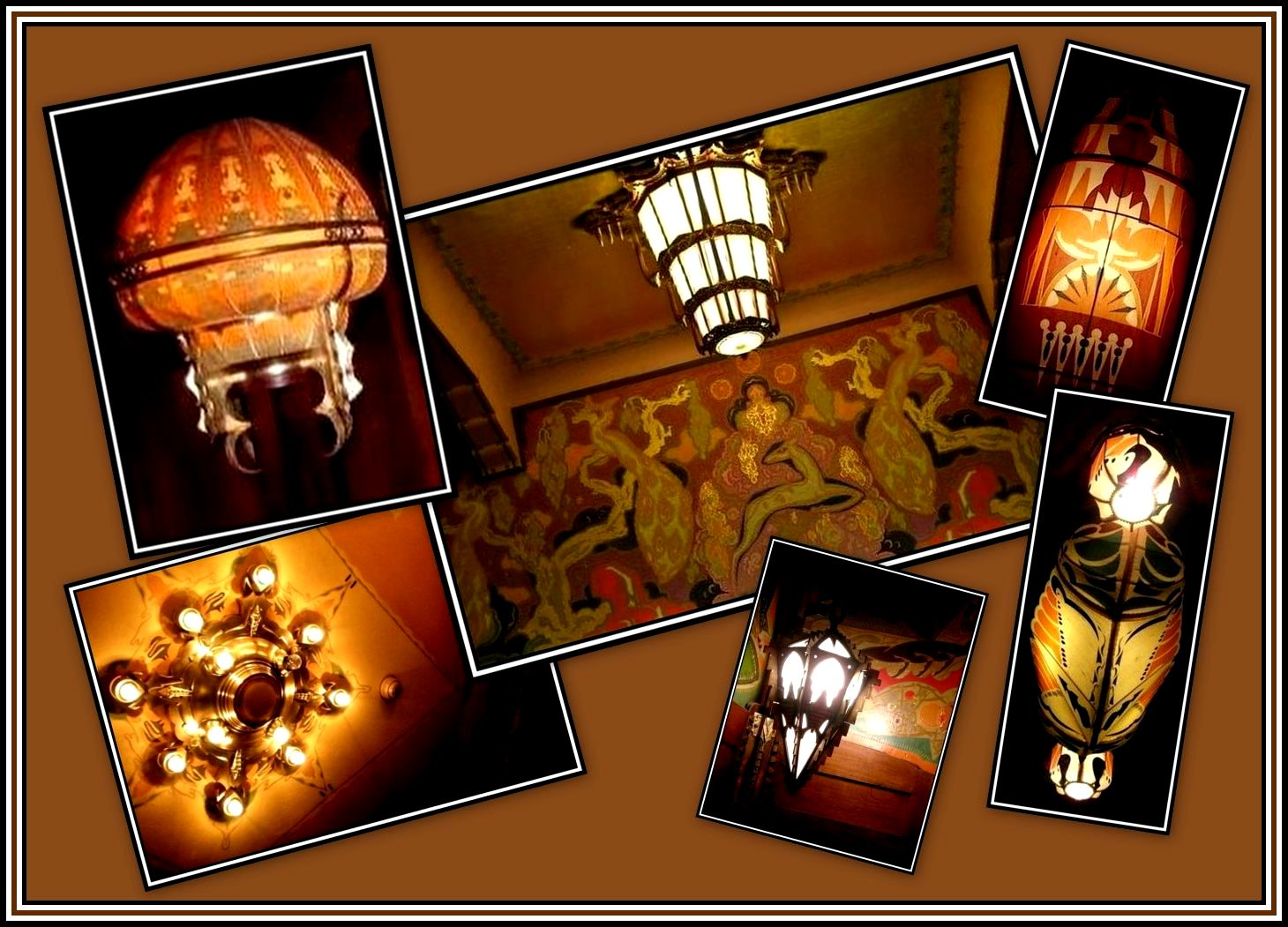 Lamps of the Tuschinski Collage