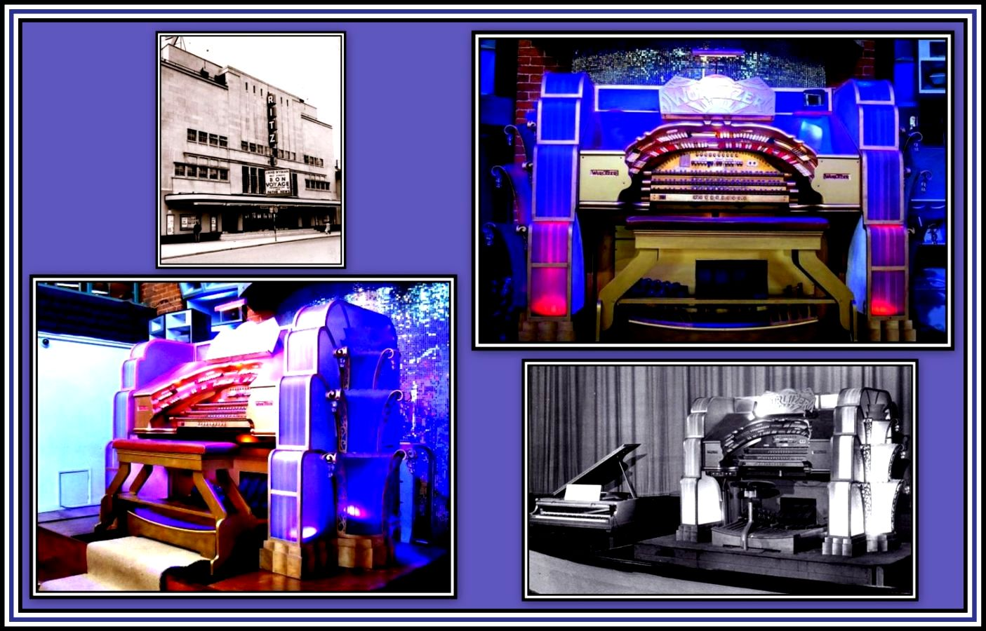 Ritz Chatham Wurlitzer Collage