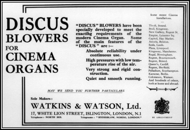 Watkins Watson Advert red and border