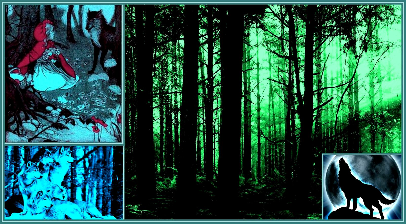 Into the Woods-Wolves Collage