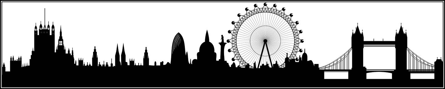 London Silhouette with border