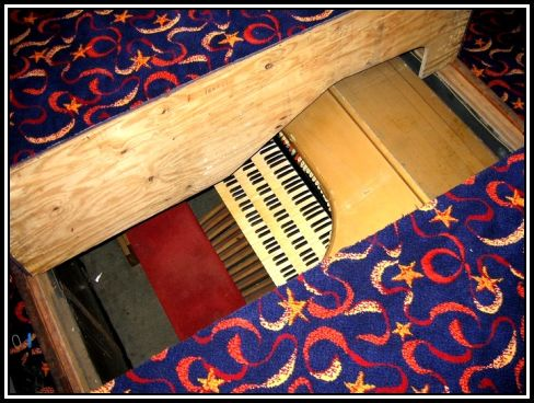 Organ under the floor of the Bingo Hall