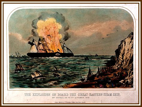 Explosion on 9th Sept. 1859 off Hastings