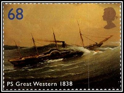 GW stamp - painting by J. Walters