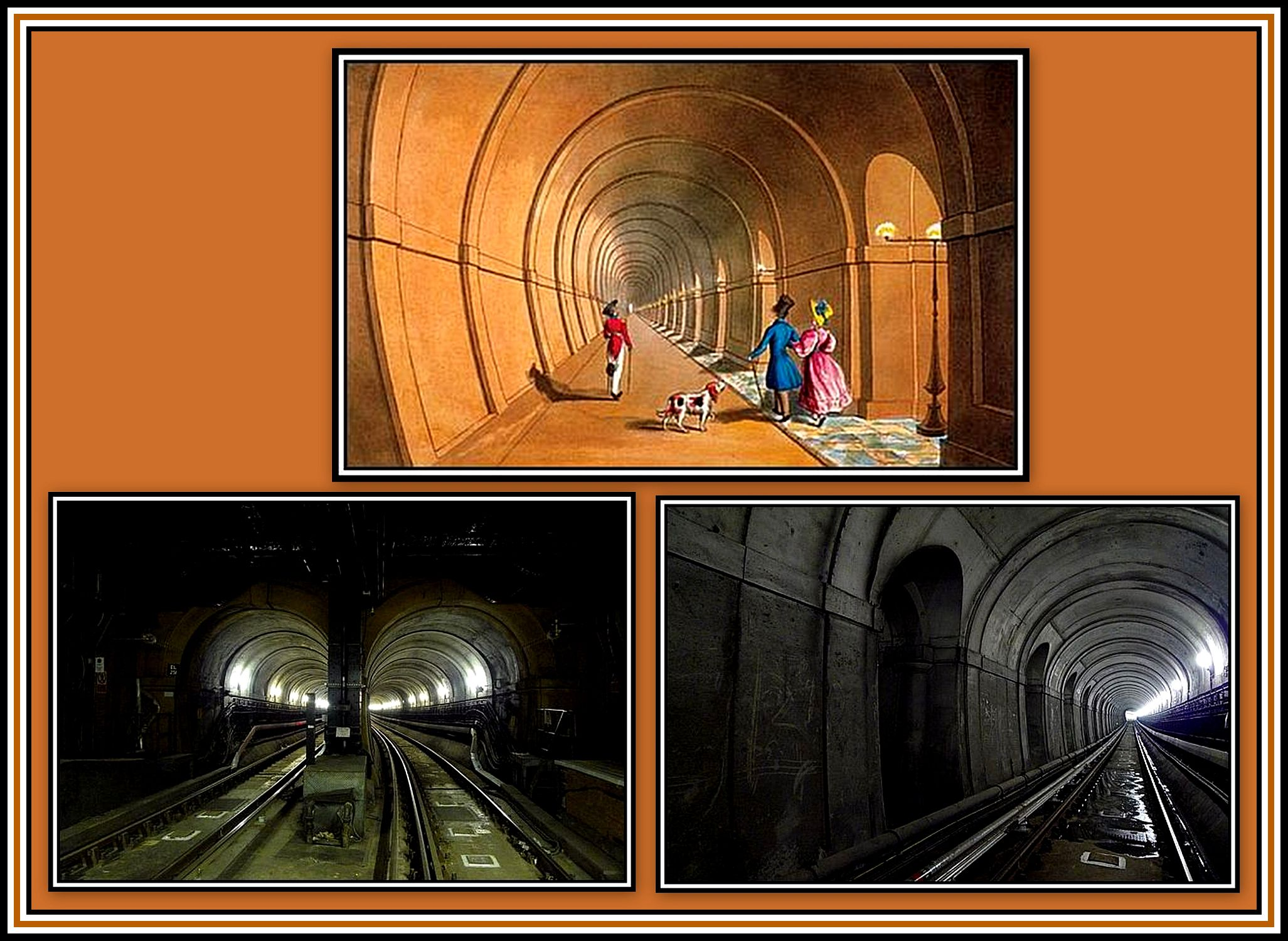 Thames Tunnel Collage