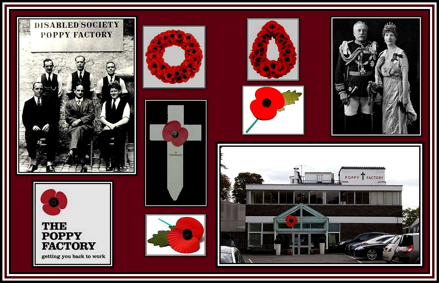 Poppy Factory Collage