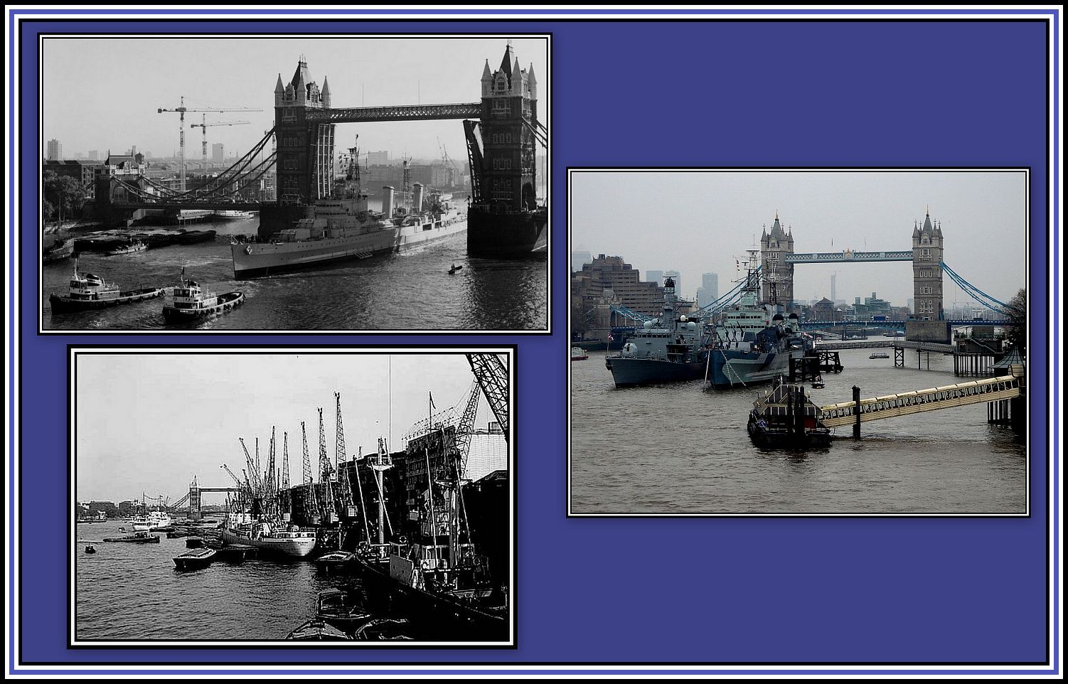 Bridge before and now collage