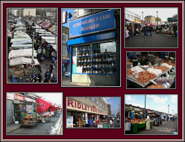 Ridley Road Shopping Collage