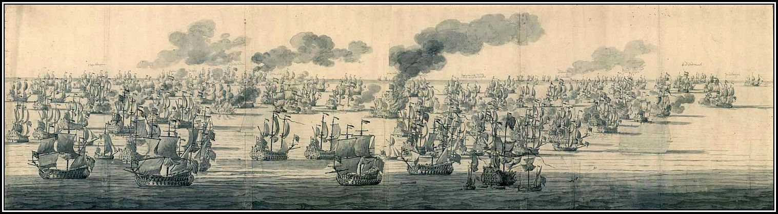 The Battle of Solebay - Willem van de Veide The Elder (7 June, 1672)