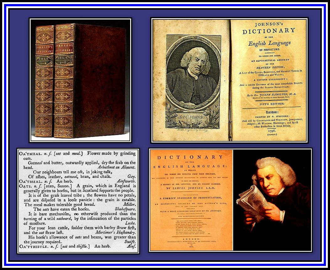 Johnson's Dictionary Collage