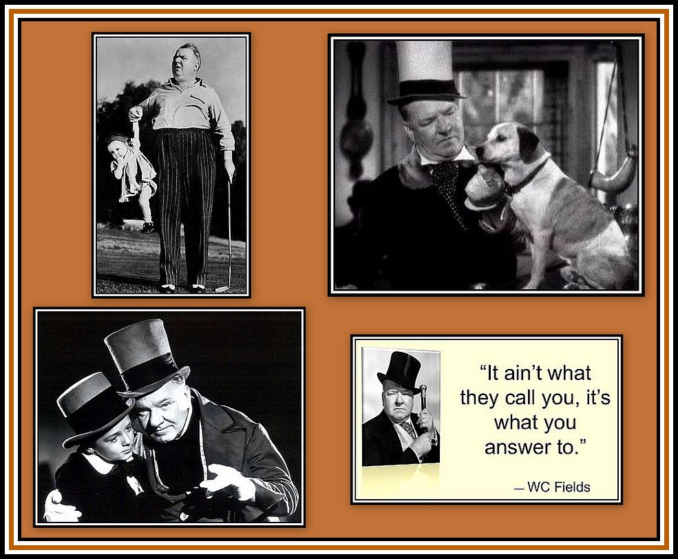 WC Fields Collage