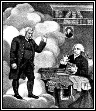 Caractiture of Johnson and Boswell from Boz' book
