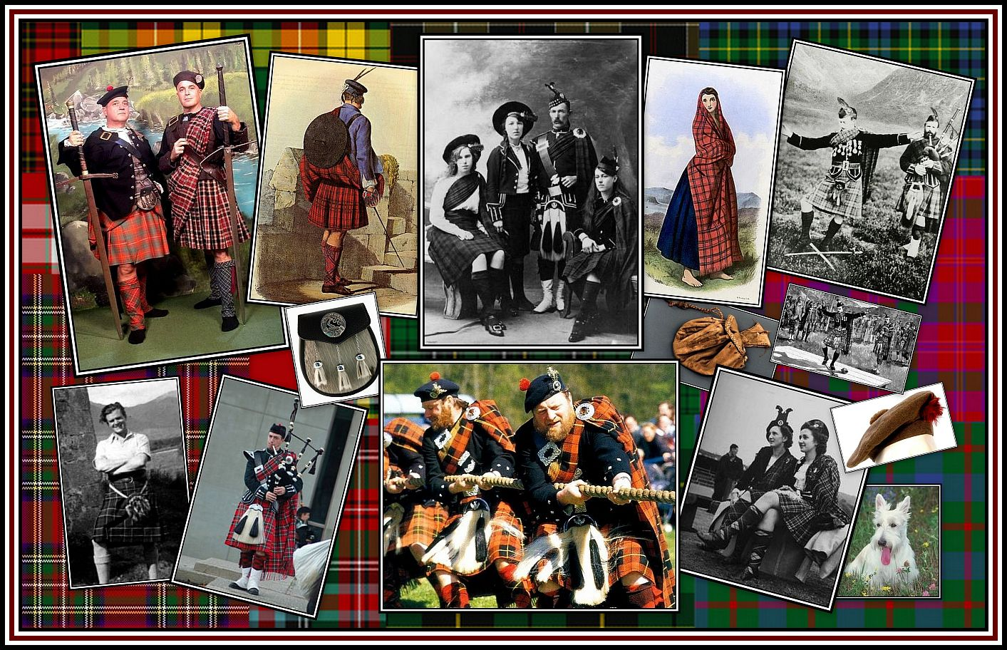 Highland Dress Collage