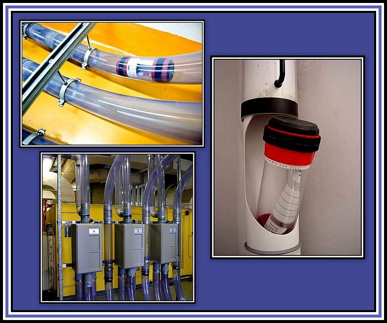 Pneumatic Tube System Collage