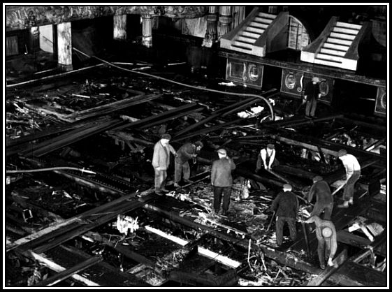 Ballroom floor after fire, Dec 1956 2