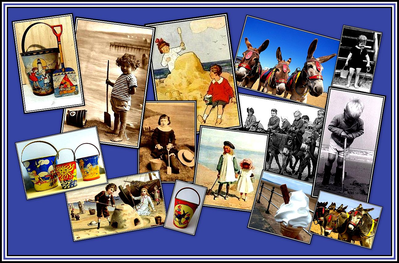 Donkeys, Buckets & Spades Collage