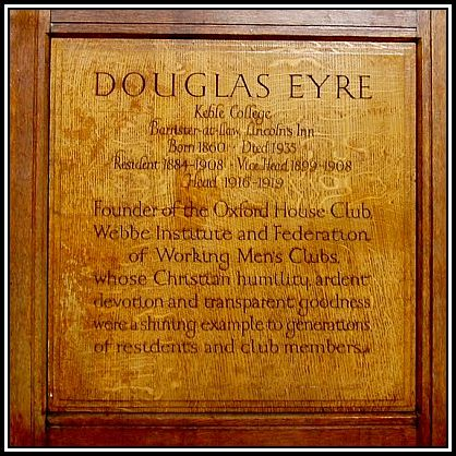 douglas eyre founder of Oxford House 2