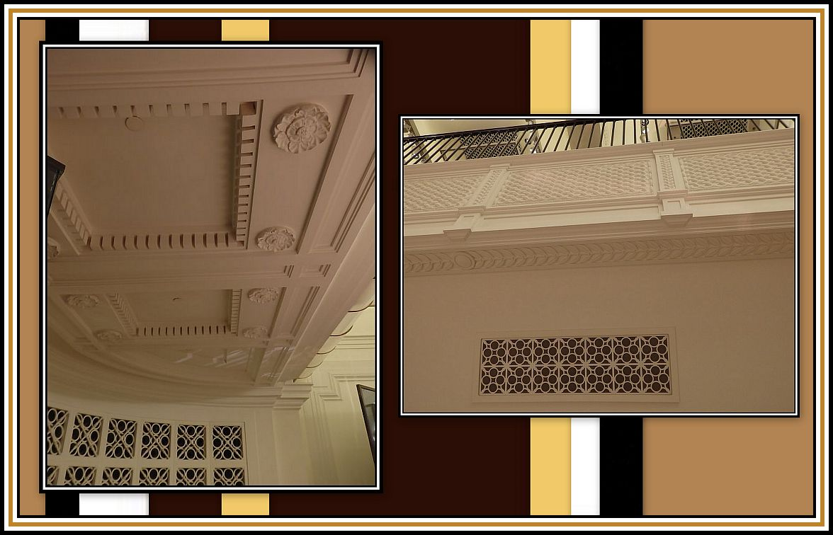 Ceiling over the Stage & Balustrade Collage