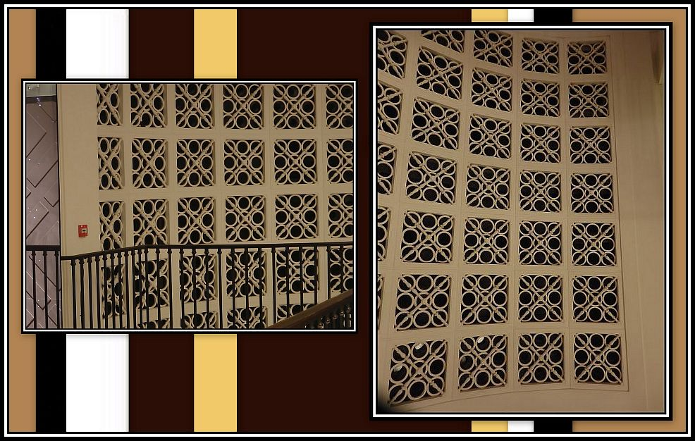 Grilles either side of the Proscenium Collage