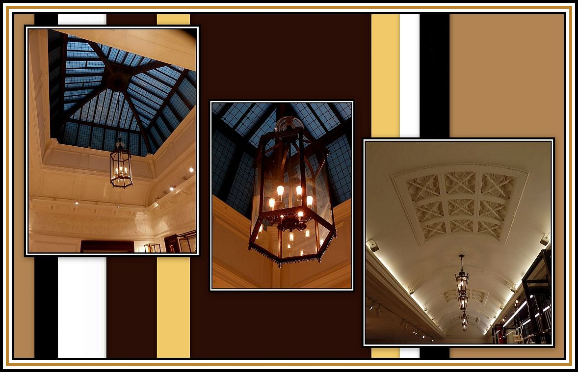 Skylight, Lamp & Ceiling Grille Collage