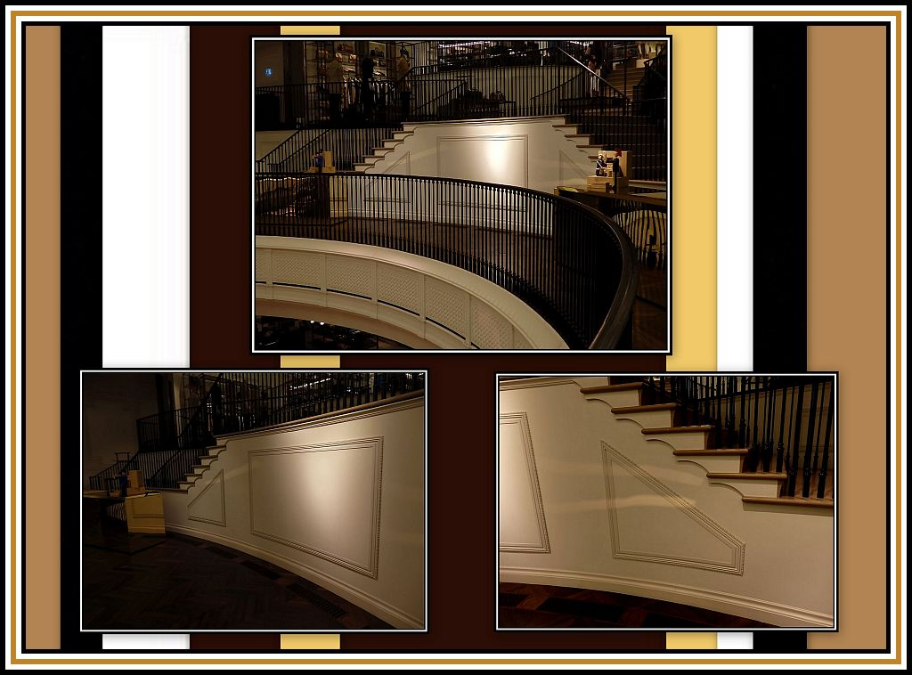 Staircase toUpper Upper Floor Collage