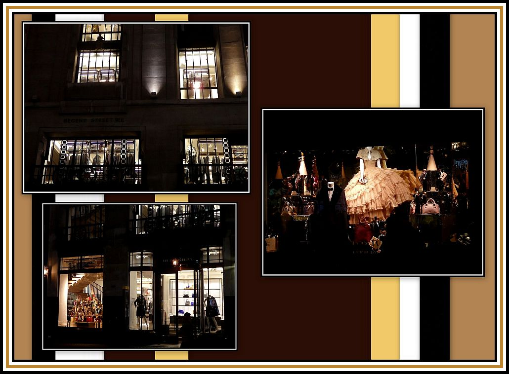 Window Displays by Night Collage
